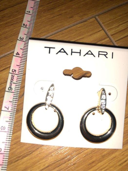 """大出清!!--新款上架國外大牌 TAHARI水晶耳環"""""""
