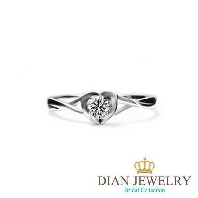 【黛恩珠寶 DIAN JEWELRY】10分CZ鑽石珠寶銀飾化女戒 八心八箭專賣GIA 婚卡 婚顧 婚網 韓版新款