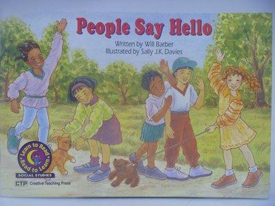 【月界二手書店】People Say Hello-Read to Learn_Will Barber 〖少年童書〗CEP