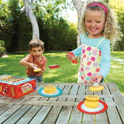桌遊 益智遊戲 卡片遊戲 親子遊戲 指尖桌遊美國Pancake Pile-Up煎餅派兒童多人團體桌游玩具運動協調幼兒園4