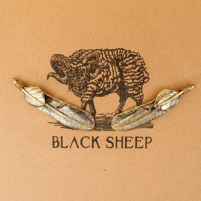 黑羊選物 綁葉羽毛 黃銅鑰匙圈 高橋復...