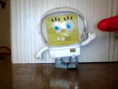 minia柑ㄚ店~絕版 二手麥當勞玩具(MCD-295)海棉寶寶太空人~~~