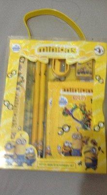 全新小小兵文具組內含筆尺削筆器橡皮擦錢包適合送禮