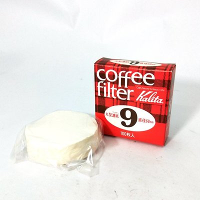 Kalita 咖啡濾紙 圓形 No.9 100張入