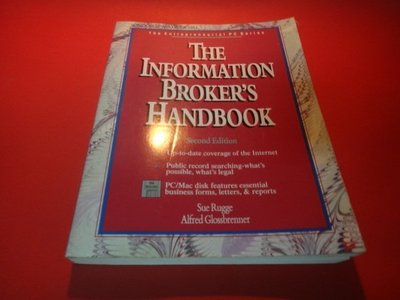 【愛悅二手書坊 05-54】The Information Broker's Handbook