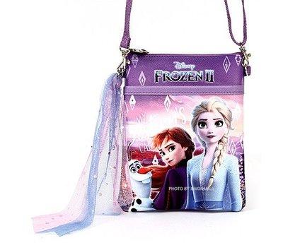 ♀高麗妹♀韓國 Disney FROZEN II 冰雪奇緣2 側背包.斜背包.小包.背帶可調整長度(E款-紫)預購