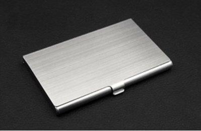 簡約 時尚 金屬質感 髮絲紋 不銹鋼商務 名片夾 名片盒 不銹鋼 卡片盒 卡片 名片 盒子 不銹鋼
