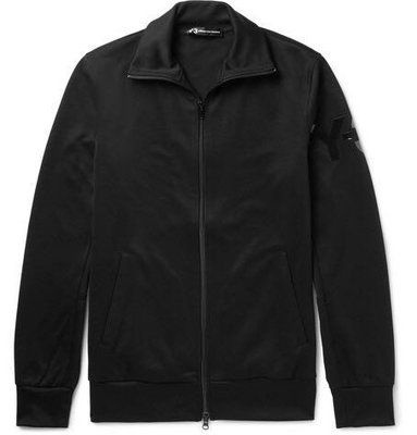 Y3 Slim-Fit Jersey Zip-Up Sweatshirt,百搭外套,全新公司貨真品,size:XL。