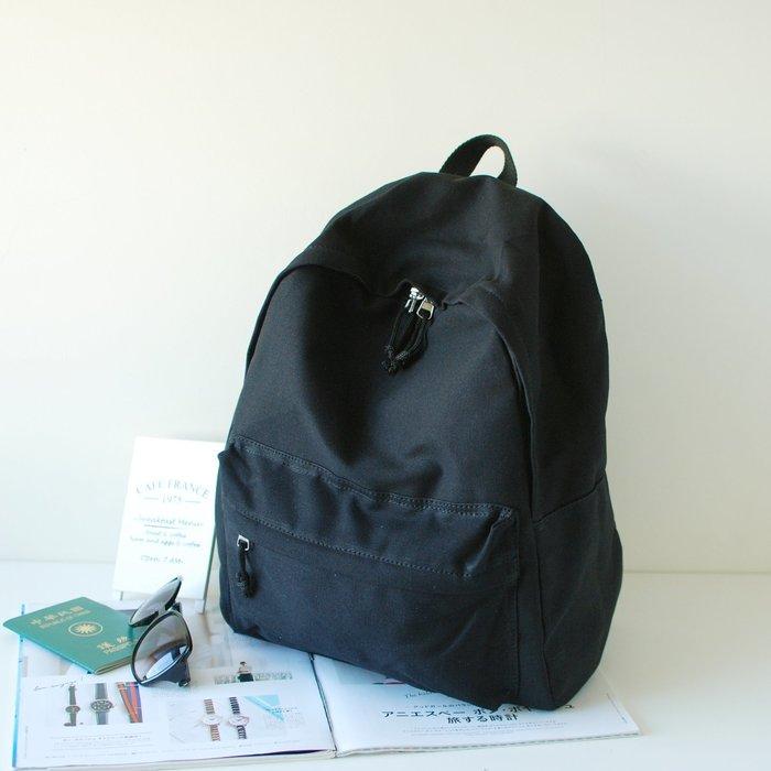 【里樂@ LeaThER】大學生最愛簡約帆布後背包 書包 雙肩包 611