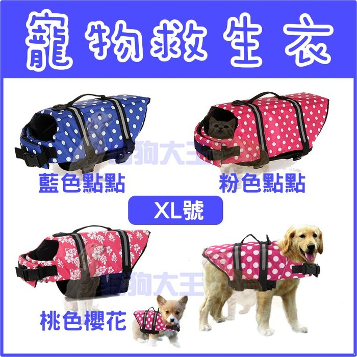 *貓狗大王*夏季救生衣 狗狗救生衣 運動海灘朔溪玩水 狗衣服 寵物戲水衣---XL號