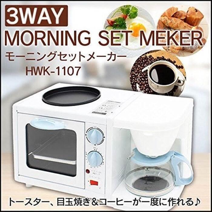 (預購商品) 牛牛小舖**日本代購 hirokitchen 3way 多功能早餐機 HWK-1107 空運價