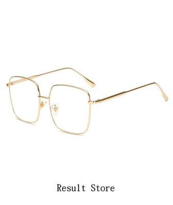 【Result】復古金框眼鏡 Hiphop 藝人愛用款 周揚青 方框 金銀兩色