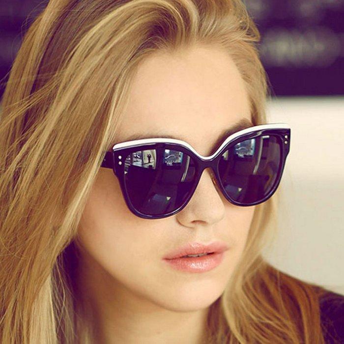 墨鏡 時尚明星同款炫彩貓眼太陽眼鏡【O3310】☆雙兒網☆