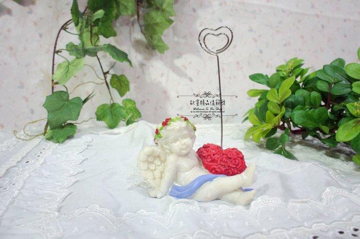~*歐室精品傢飾館*~日式zakka鄉村雜貨 可愛 天使 LOVE 名片夾 辦公小物 婚禮布置~新款上市~