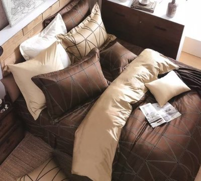 標準雙人床罩組五尺六件式純精梳棉-金牌特務-台灣製 Homian 賀眠寢飾