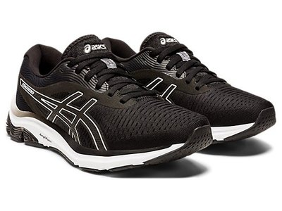 [狗爹的家] ASICS GEL-PULSE 12 黑 白 透氣 女慢跑鞋 現貨 免運