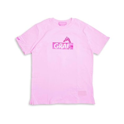 Cover Taiwan 官方直營 GRAF 長頸鹿 巴洛克 嘻哈 奢華 BOX LOGO 短Tee 粉紅色 (預購)