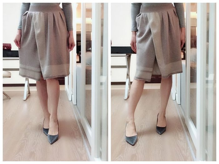 *Beauty*義MATILDE奶茶色喀什米爾及膝針織裙 44 號 6000元PH