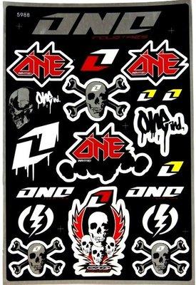 【高橋車部屋】大張彩貼 (12) 貼紙 機車 Monster 鬼爪 BWS 滑胎 越野 FOX ONE rockstar