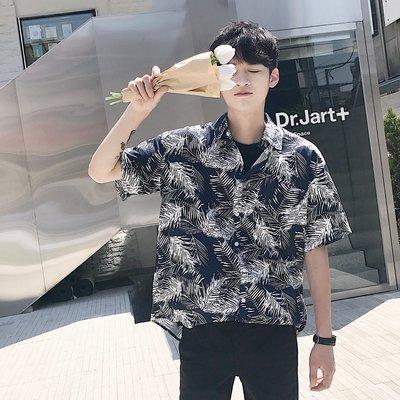Chita Man + 花花公子 寬鬆 滿版 短襯衫