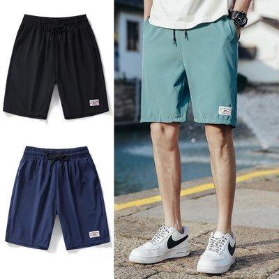 運動短褲 褲子夏季2020男士短褲韓版潮流直筒沙灘褲百搭冰絲速干學生運動褲 快速出貨