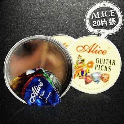 小叮噹的店- PICK盒 彈片盒 (20片裝) Alice A011B 大圓形金屬盒 -小叮噹的店
