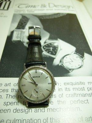 BENRUS 瑞士/ 14白K鑲鑽50年代珍藏錶 已交誼