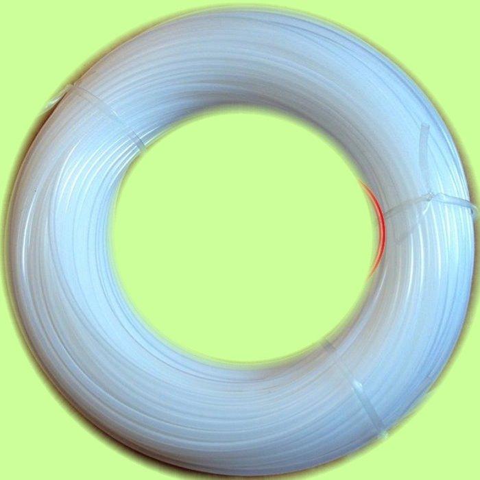 5Cgo【權宇】全新PE環保材料 光纖 裸纖 保護管 透明護纖管 保護套管 3x4.5mm 200M長 含稅會員扣5%