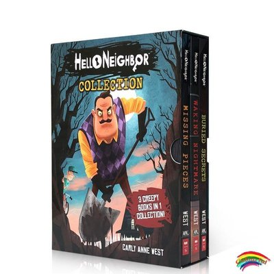 你好,鄰居小說3本英文原版 Hello Neighbor Collection奇幻驚悚趣味游戲小說Missing Pieces/Waking Nightmare