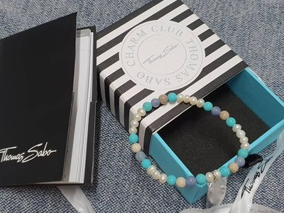 全新 Thomas Sabo 珍珠手鐲 手鏈 有盒 16.5cm特價