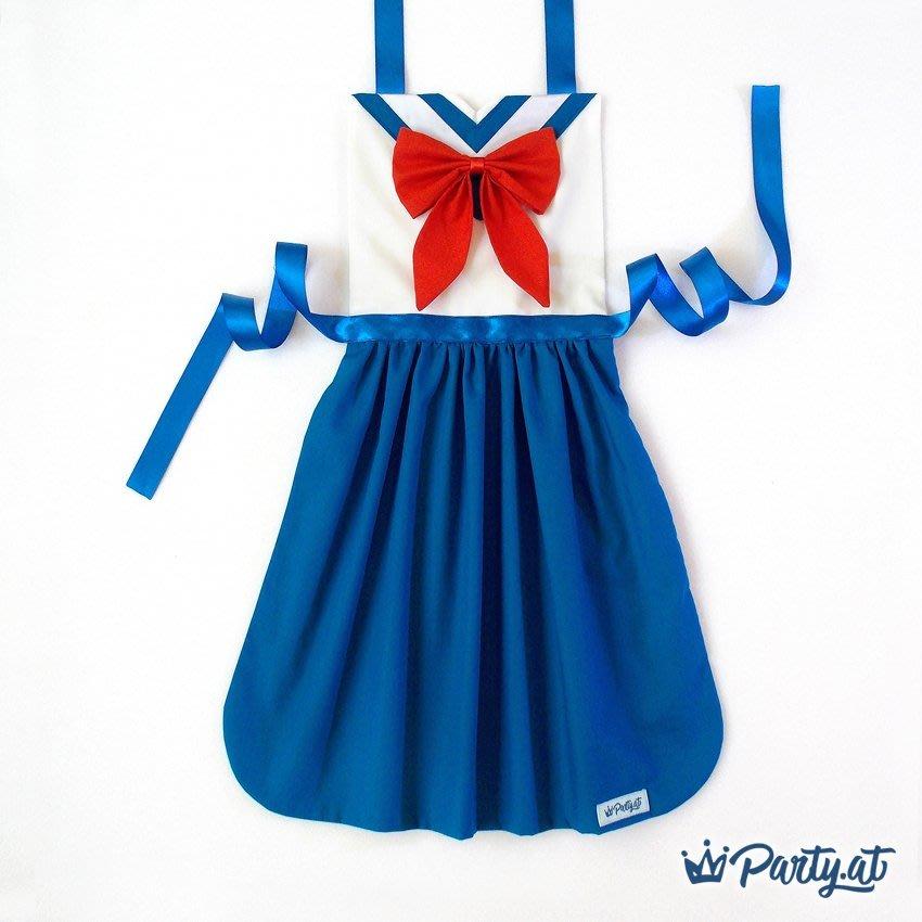 **party.at** 美少女戰士 月野兔 兒童圍裙 2-8Y 聖誕節服裝 萬聖節 變裝 迪士尼 真珠美人魚 皮卡丘
