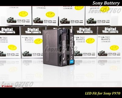 【特價促銷 】全新 Sony NP-F970/F960-6600 mAh LED 燈專用鋰電池-CN160 LED補光燈