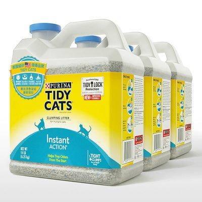 【小如的店】COSTCO好市多線上代購~Tidy Cats 高效清香凝結罐裝貓砂(6.35公斤X3罐)