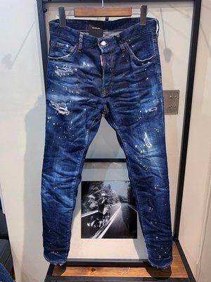 代購【DSQUARED 2】2019春夏 深色水洗黃漆COOL GUY牛仔褲 *35%OFF*