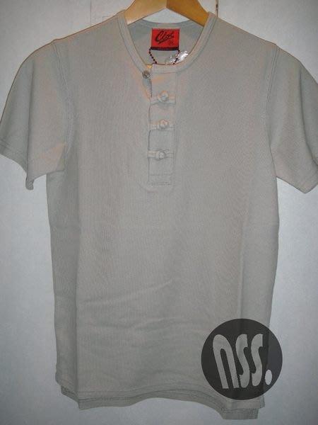 特價「NSS』CLOT DYNASTY CHINOISE HENLEY TEE 中國風 絲綢 短t 灰 女 ws