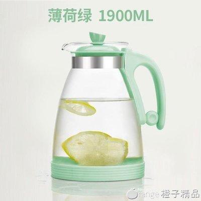 哆啦本鋪 水之物語耐熱涼水壺玻璃家用冷水壺 耐高溫涼水杯防爆大容量套裝 D655