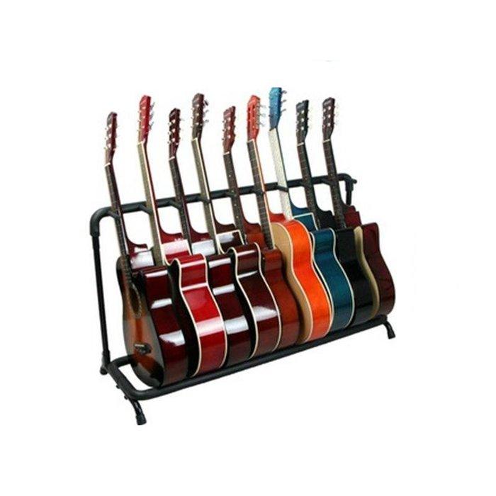 ~全新~可放9支吉他架/吉他架/電吉他架/Bass/ 電貝斯架/琵琶架(練團室/錄音室好物)穩固管架,泡棉覆管