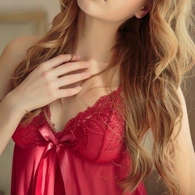 情趣內衣 角色扮演 紅色圣誕節性感睡衣情趣內衣激情套裝透視裝開襟蝴蝶結吊帶睡裙