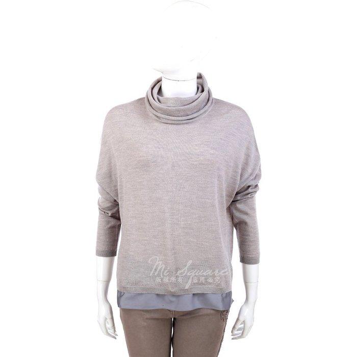 米蘭廣場 FABIANA FILIPPI 灰色材質拼接設計長袖高領上衣 1340331-06