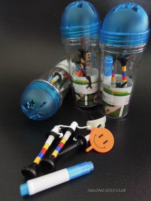全新 彩虹球Tee  減少阻力 輕鬆擊球 貼心設計附畫線器、微笑mark