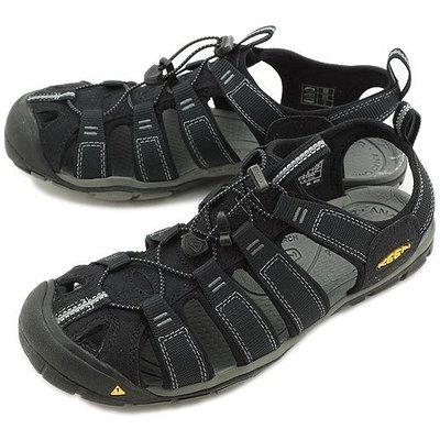 =CodE= KEEN CLEARWATER CNX SANDALS 編織彈性綁繩護趾包頭涼鞋(黑灰)1008660 男