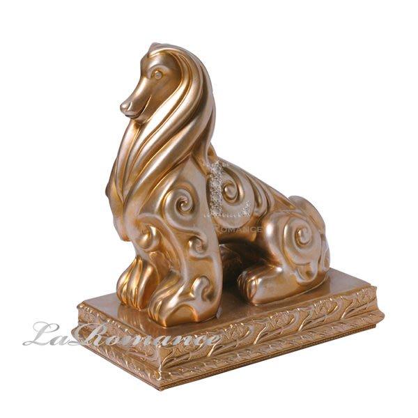 【芮洛蔓 La Romance】奧司卡 Oscar 動物系列擺飾 - 吉祥犬 (金)