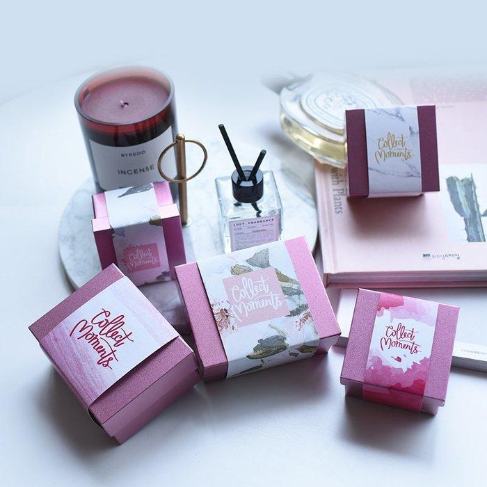 衣萊時尚-熱賣款  原創清新粉色馬口鐵盒婚禮禮品盒糖果盒婚慶用品包裝盒