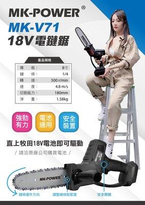 WIN五金 MK-POWER 18V(單主機)MK-V71鏈鋸機 充電式鏈鋸機 園藝工具可直上牧田電池