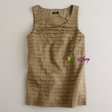 【美衣大鋪】 jcrew ☆ J.Crew 正品☆Pleated cotton strati tank 美背心
