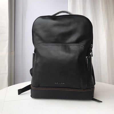 【Woodbury Outlet Coach 旗艦館】COACH 37599 男士全皮雙拉鏈雙肩背包美國代購100%正品