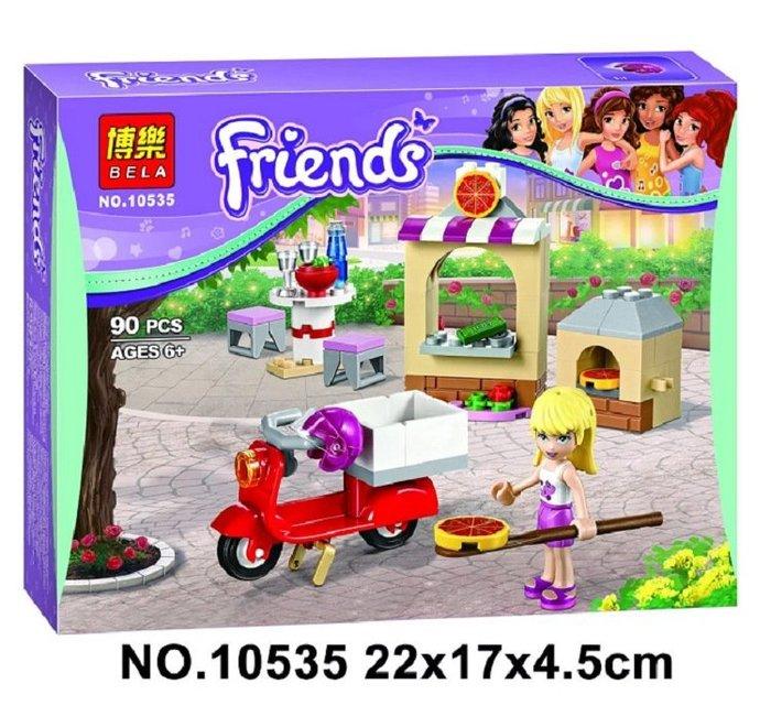☆積木好好玩☆【現貨】博樂新品 Friends 女孩系列10535 帝芬妮的比薩店   益智積木/兒童玩具與樂高相容