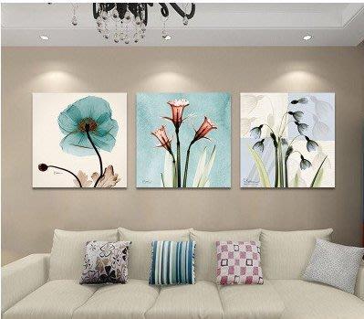 『格倫雅』客廳裝飾畫現代簡約無框畫臥室壁畫沙發背景墻掛畫歐式抽象三聯畫^19708