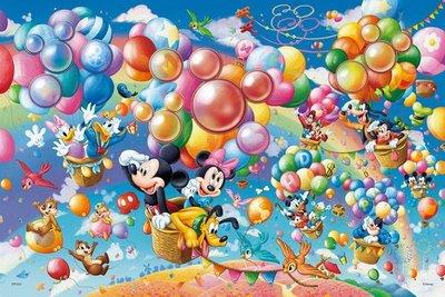 日本進口拼圖專賣店_1000片 迪士尼 Treasured Moments 立體晶鑽貼圖 熱氣球冒險 97-004
