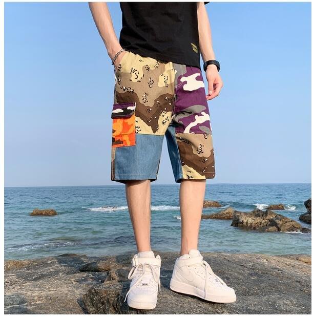 FINDSENSE X 休閒工裝短褲 多口袋 短褲多袋 速幹 運動 男式 短褲 五分褲
